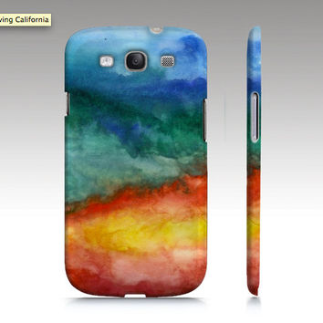 Samsung Galaxy s3 case, Galaxy S4 case, watercolor design, abstract painting, blue turquoise aqua, art for your phone
