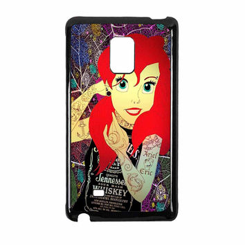 Ariel Little Mermaid Tattoo With Flower Cover Samsung Galaxy Note Edge Case