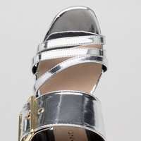 River Island Willow 2 Part Buckle Mule at asos.com