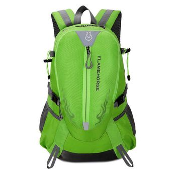 Outdoor Nature Flame Horse Outdoor Hiking Backpack Waterproof Nylon Men Women Bag Unisex Travel Bag Mountain Camping Climbing Mochilas Rucksack
