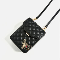 MINI CROSS-BODY BAG WITH QUILTED DETAILDETAILS