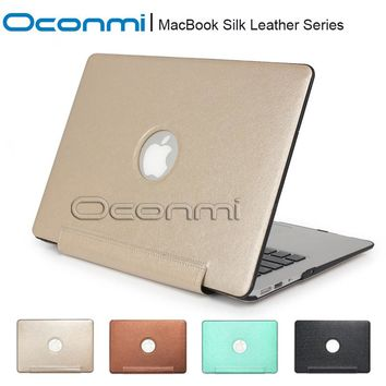 Fashion New silk Leather case for Apple Macbook Air Pro Retina 11 12 13 15 inch laptop cover case for Macbook air 13 case
