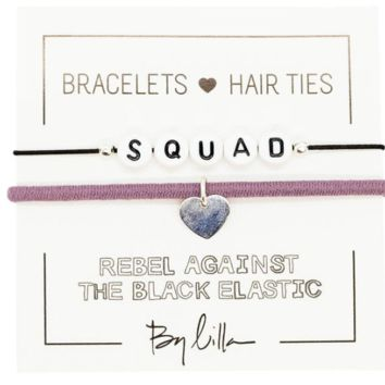 SQUAD Elastic Hair Tie and Bracelet By Lilla