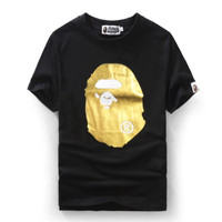 BAPE Gold Logo Front Back Shirt
