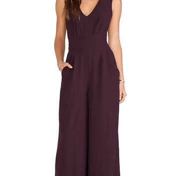 BB Dakota Ethan Woven Jumpsuit in Wine