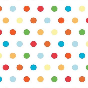 Bright Polka Dots Printed Photography Background / 442