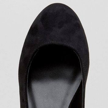 New Look Embroidered Ankle Strap Flat Shoe at asos.com