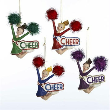 12 Christmas Ornaments - Cheerleader
