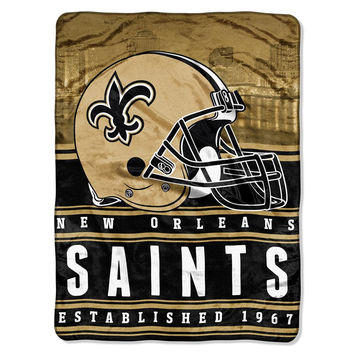 New Orleans Saints NFL Silk Touch Throw (Stacked Series) (60inx80in)