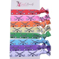 Girls Field Hockey Hair Ties Set- Multi Color
