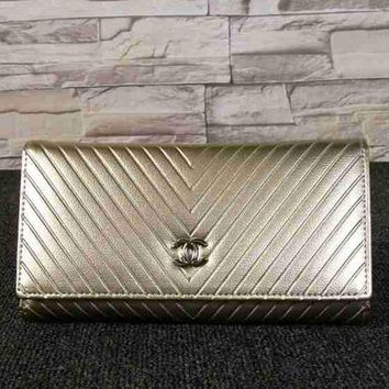 CHANEL Women Fashion Leather Buckle Wallet Purse-17