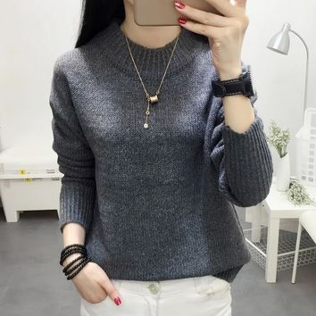 Pull Femme 2018 Autumn Winter Women Sweaters And Pullovers Fashion Knitting Sweater Female Casual Long Sleeve Chompas Para Mujer