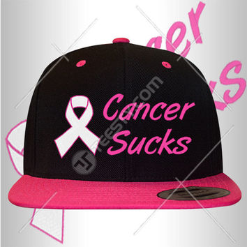 Cancer Sucks Snapbacks Snapback Hats Hat Caps Cap Beanie Beanies Cancer Ribbon Snapback Snapbacks Cancer Awareness Hats Hat Caps Cap