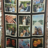 35 x 54 inch 9 Panel Sublimatable throw. Keepsake picture blanket