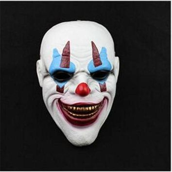 CREY6F Top Grade Resin Payday 2 Ashanglife Evil Circus Clown Mask Pennywise Halloween Horror Party Fancy Dress Costume Clown Head Mask