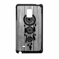 Hipster Vintage Black Dreamcatcher On Gray Wood Samsung Galaxy Note Edge Case