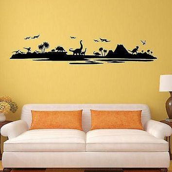 Vinyl Decal Wall Sticker Dinosaurs Kids Room Children Art Mural Unique Gift (ig1989)