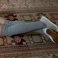 Grey Slouchy Sock | Scrunchy Over the Knee Socks | Playful Sophisticated Footwear & Legwear at Between the Sheets