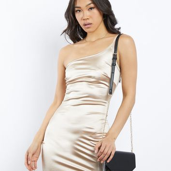 Lights, Camera, Action Satin Dress