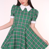 Glitters For Dinner — MADE TO ORDER - Tartan Wonderland Dress in Green