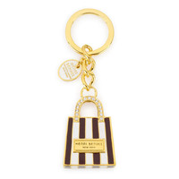 shopping bag keyfob - designer key fobs - key chains for women
