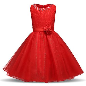 Lace Princess Girl Costume Kids Prom Gown Designs Fancy Kids Dresses For Girls Children's Clothing Girl 10 Year Graduation Dress