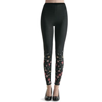 Hot Sox: Floral Print Leggings, at 30% off!