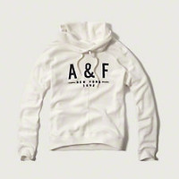 Funnel Neck Logo Hoodie
