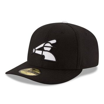 Men's Chicago White Sox New Era Black/White Diamond Era 59FIFTY Low Crown Fitted Hat