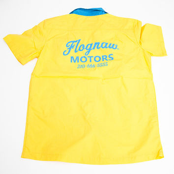 FLOGGNAW MOTORS WORK SHIRT YELLOW – golfwang