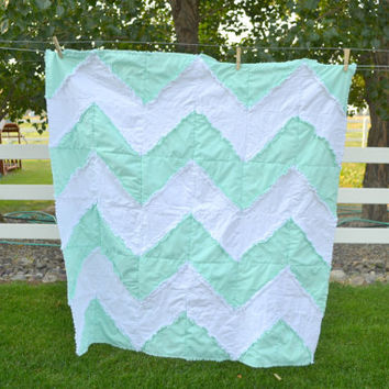 Chevron Rag Quilt Sewing Pattern INSTANT DOWNLOAD