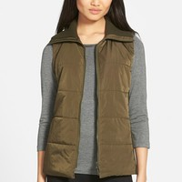 Women's Lafayette 148 New York 'Mena' Mixed Media Vest,