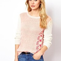Vila Mixed Yarn Jumper at asos.com