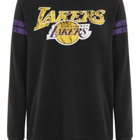 Lakers Bardot Sweater Dress by UNK x Topshop
