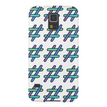 Cute Colorful # Hashtag Galaxy S5 Cover