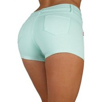 Basic Short Shorts Premium Stretch French Terry Moleton With a gentle butt lifting stitching - In 10 Colors