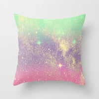 Glitter Love Throw Pillow by Pink Berry Pattern