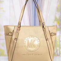 shosouvenir : MK Women Shopping Bag Leather Satchel Tote Shoulder Bag