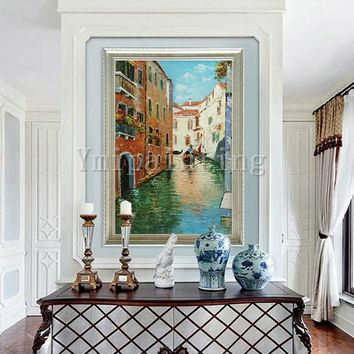 Cityscape painting Oil Painting hand painted painting Venice Painting Venice italy art Canvas Painting Wall art Wall pictures