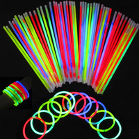 "300 8"" Glow Sticks Bracelets Light Neon Colors Party Favors Wholesale Lot"