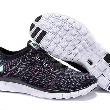 """Nike Zoom Fit Agility Flyknit5.0"" Unisex Sport Casual Multicolor Weave Sneakers Coupl"