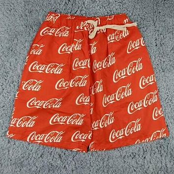 Coca-Cola Popular Women Men Casual Full Print Print Beach Sport Shorts Red I-AA-XDD