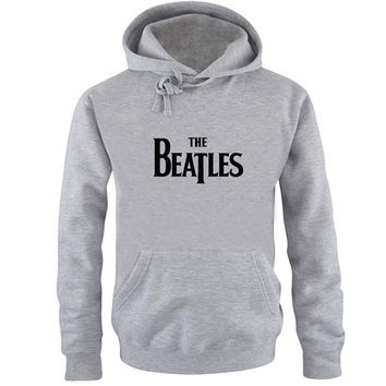 the beatles logo Hoodie Sweatshirt Sweater Shirt Gray and beauty variant color for Unisex size