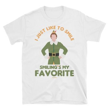 Smiling's My Favorite | Men's Buddy The Elf Christmas Shirt