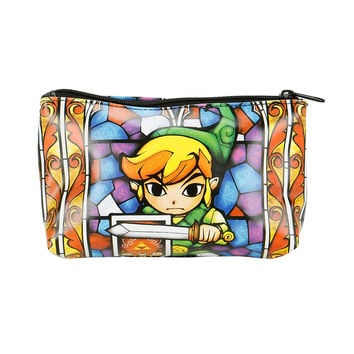 The Legend Of Zelda Stained Glass Cosmetic Bag