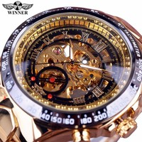 Winner Sport Design Bezel Men Automatic Skeleton Watch