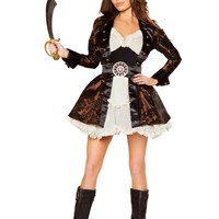 Roma Costumes 5pc Pirate Beauty