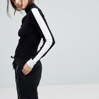 G-Star Rib Knit Jumper with Contrast Stripe at asos.com
