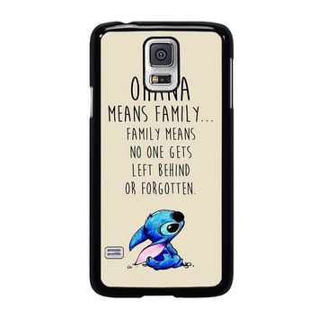 STITCH LILLO OHANA FAMILY QUOTES Samsung Galaxy S5 Case Cover