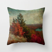 Vintage Inspired Adirondacks in Fall Colors - Throw Pillow Cover